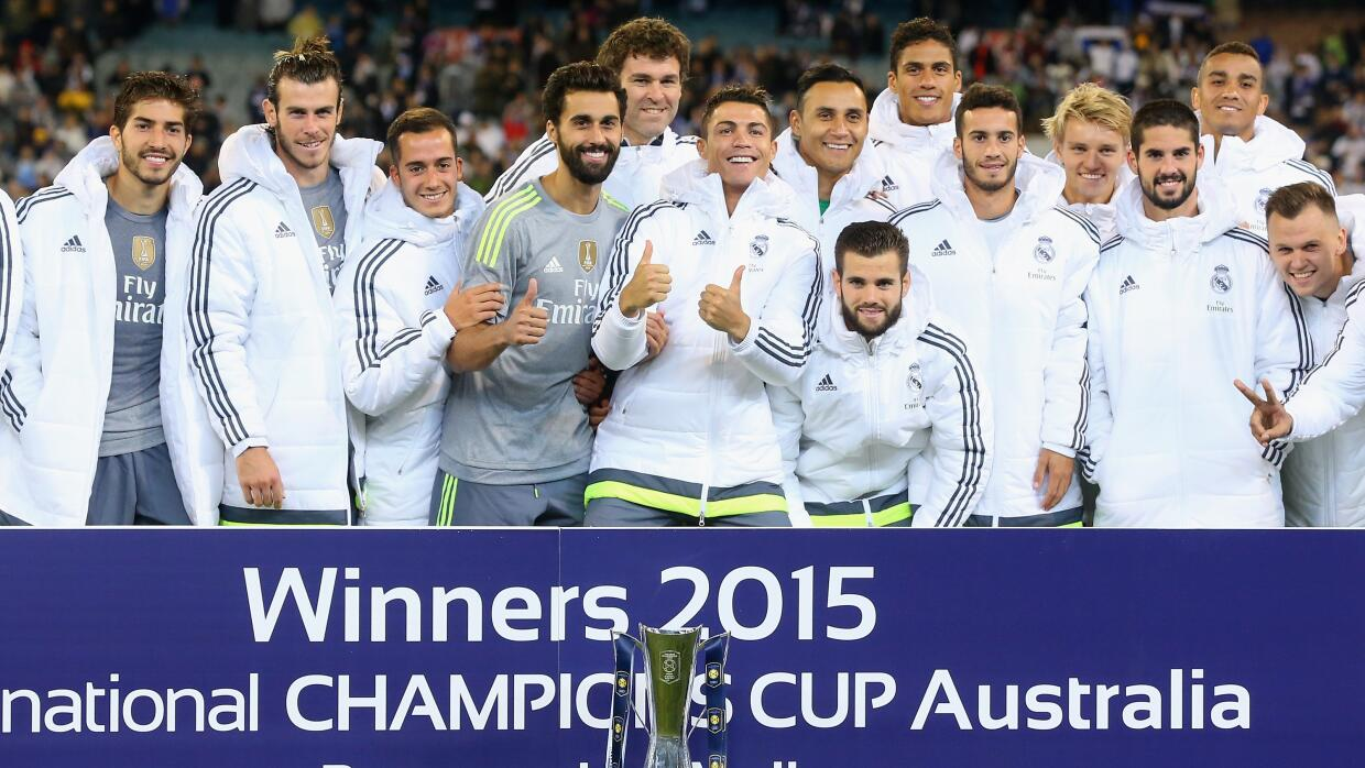 Real Madrid celebra con el Internation Champions Cup