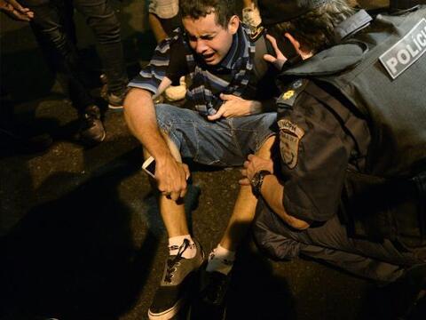 Un manifestante murió este jueves en el interior del estado de Sa...