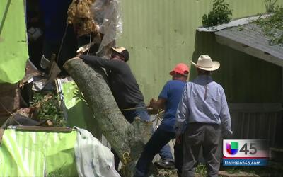 En Willis, Texas las tormentas dejaron decenas de casas destruidas