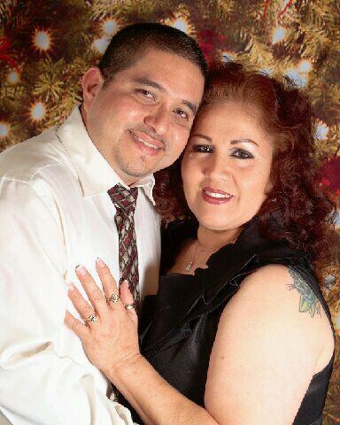 Una romántica postal de Blanca y su marido, José Casta&nti...