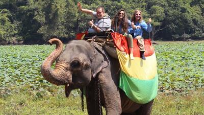 En exclusiva, las exóticas vacaciones de Raúl de Molina en Sri Lanka