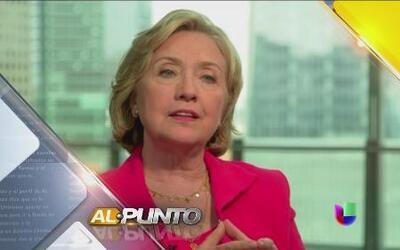 Hillary Clinton habla sobre la crisis migratoria en Al Punto