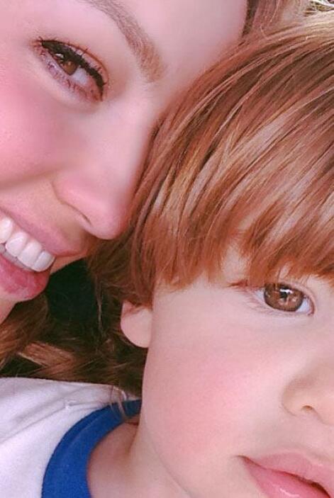 El año pasado la actriz y cantante compartió estas imágenes con sus hijos.