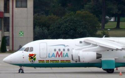 Imagen del avión de la compañía LaMia que se estrel...