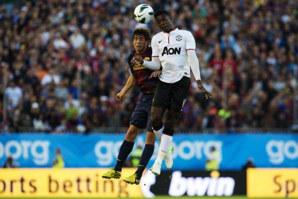 El 'Man-U' dejó que los españoles tuvieran el dominio de la pelota, aunq...
