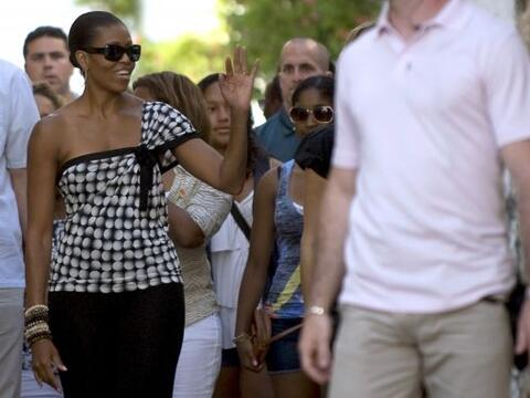 Las vacaciones que realizó la primera dama de Estados Unidos a Es...