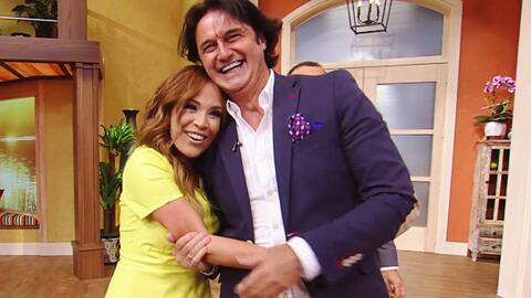 Karla Martínez recibió la visita sorpresa de su gran amigo 'Poty' Castillo