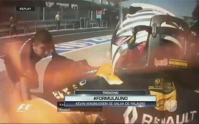 Así escapó Kevin Magnussen de las llamas cuando se incendió su Fórmula 1