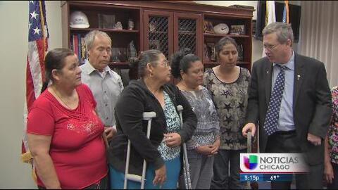 Se reencuentra con su familia gracias a una visa humanitaria