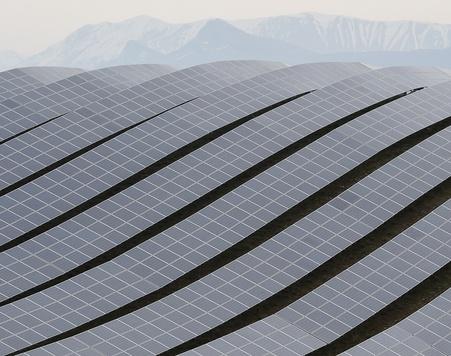 Planta de energía solar en Francia.