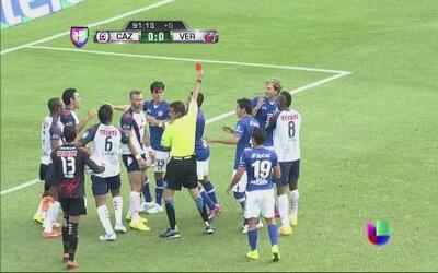 Cruz Azul vs Veracruz: Tarjeta roja para Aníbal Zurdo y Leobardo López