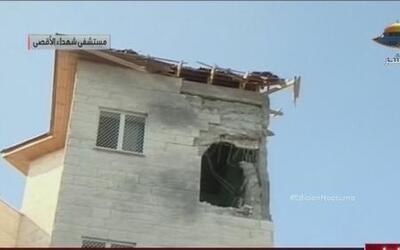 Las fuerzas israelíes bombardearon un hospital en Gaza
