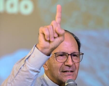 El sacerdote Alejandro Solalinde en Ciudad de México