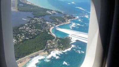 Puerto Rico desde un avión