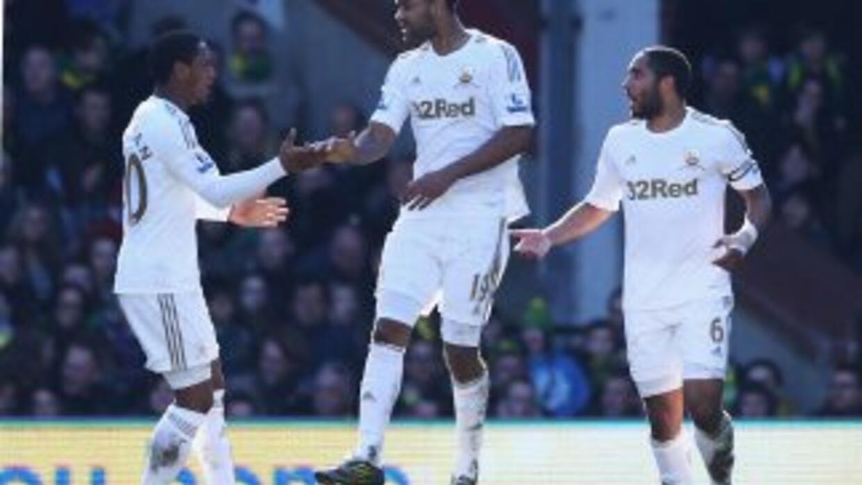 Luke Moore rescató el primer punto en cuatro semanas para Swansea, que e...