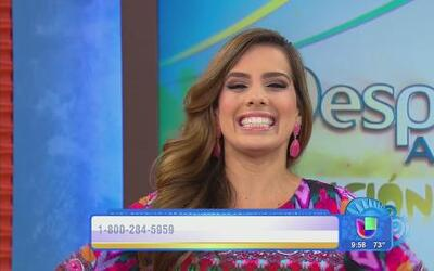 Andrea Chediak lució un hermoso vestido de Boutique Univisión
