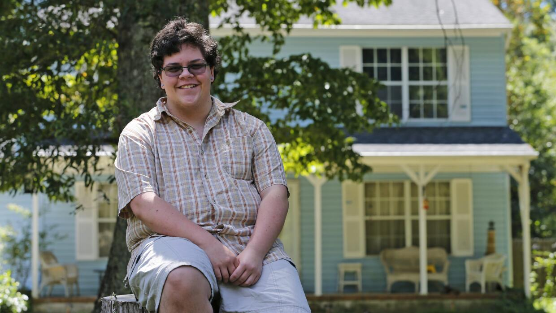 El estudiante transgénero Gavin Grimm.
