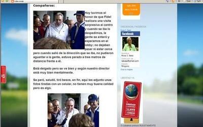 El ex presidente cubano Fidel Castro salió a la calle según publicaron b...