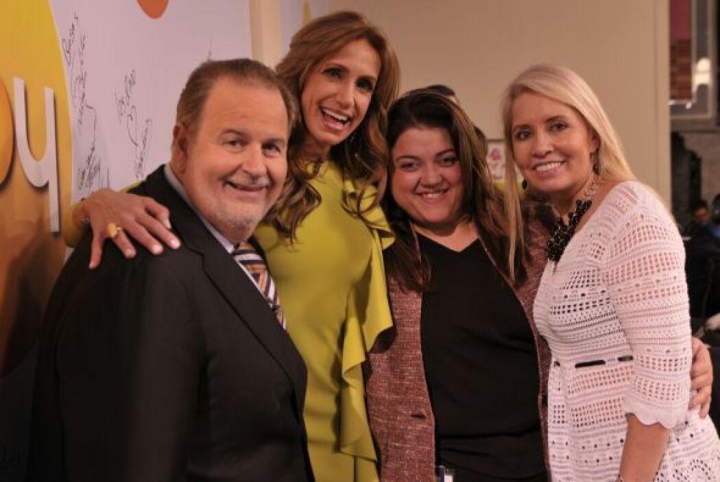 Carla Estrada estuvo muy complacida con la visita de los legendarios con...