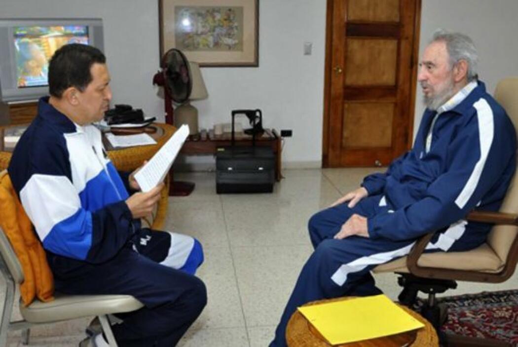 Fidel Castro. La amistad entre Chávez y el expresidente cubano va más al...
