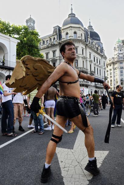 El festejo gay culminó frente al Congreso Nacional ya entrada la...