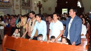 Itatí Cantoral y Eduardo Santamarina se reunieron para celebrar.