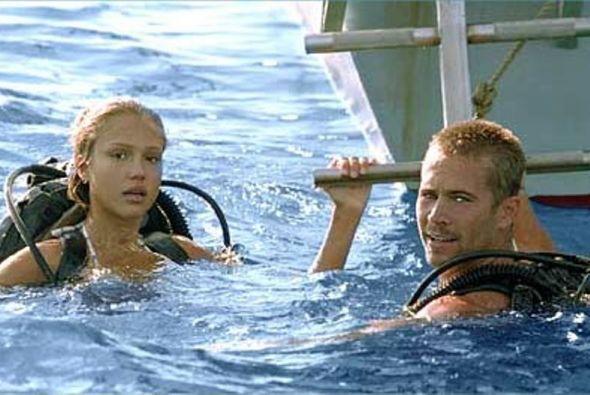 """En la película """"Into the Blue"""", Paul actuó al lado de Jessica Alba. Ella..."""
