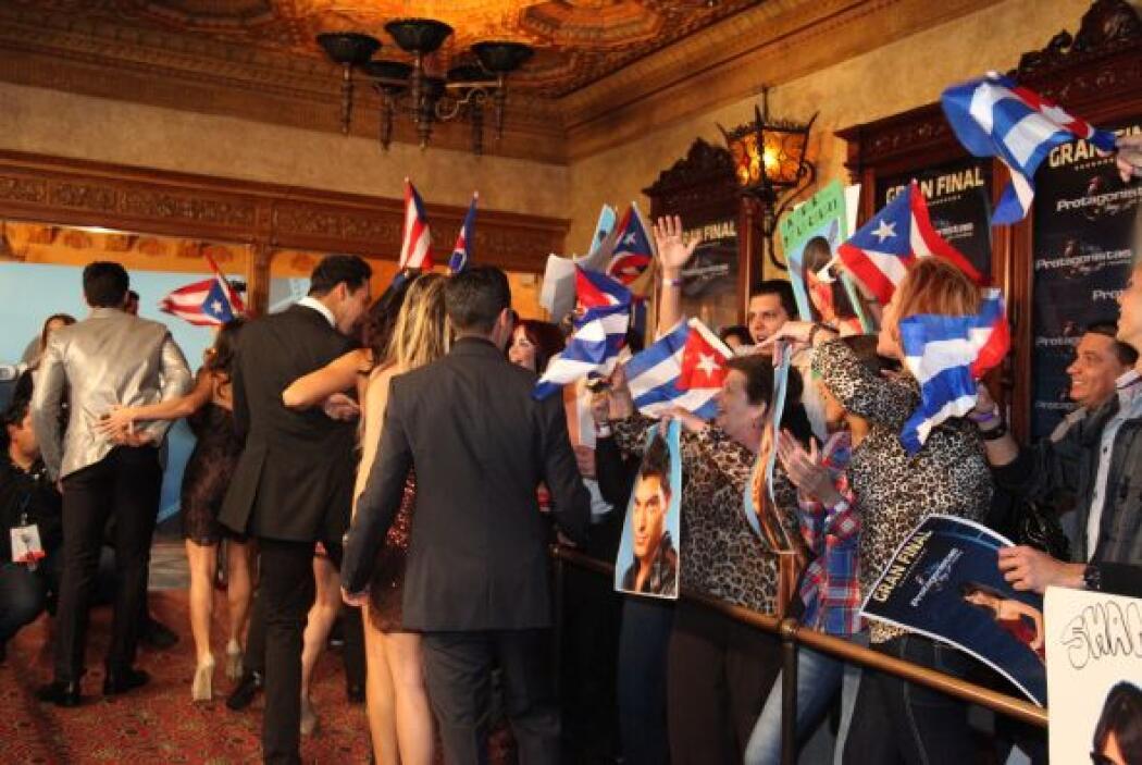 Los participantes fueron apoyar a sus compañeros y a celebrar el reencue...