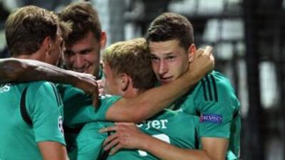 Draxler anot'o el gol del triunfo del Schalke 04.