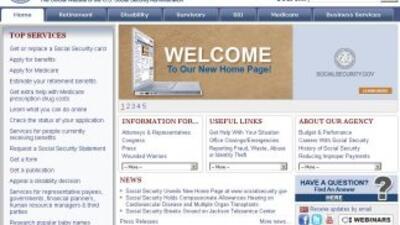 El nuevo diseño de la página del Seguro Social facilita el encontrar los...