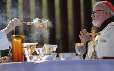 Se ofició una misa en la frontera entre México y Estados Unidos