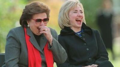 Hillary Clinton y su madre Dorothy.