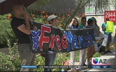 Protesta por la liberación de Marichuy