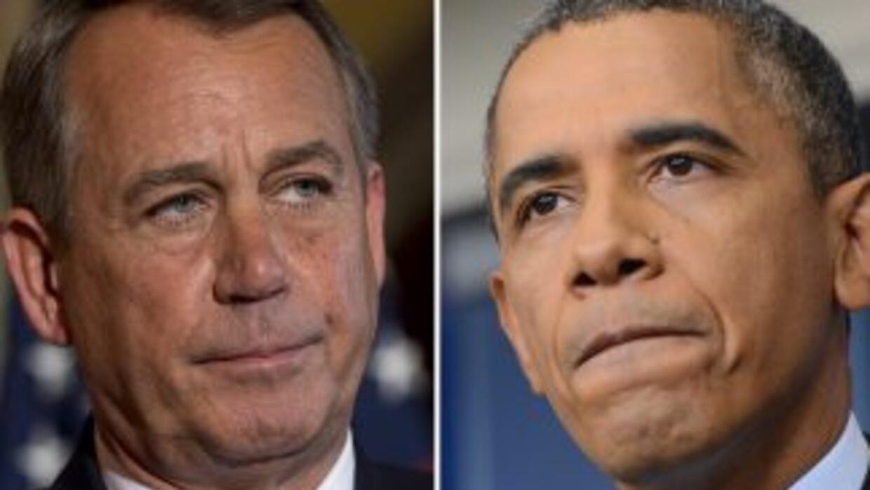El presidente de la Cámara de Representantes, John Boehner (republicano...