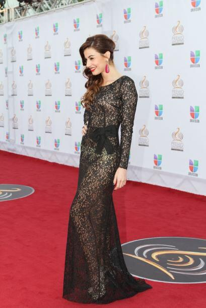 Nastassja Bolívar eligió este vestido de encaje negro que dejó poco a la...