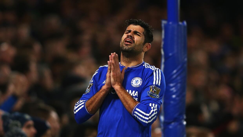 Diego Costa lamenta la derrota en casa.