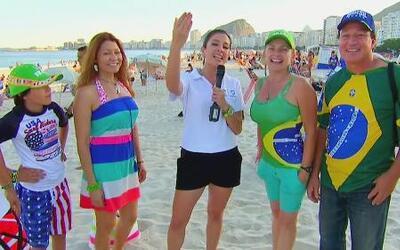Maity Interiano ya está en Brasil disfrutando de las playas