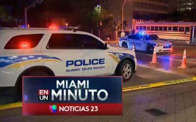 'Miami en un Minuto': autoridades realizan labores para reparar escape d...