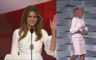 El vestido blanco de la discordia en la Convensión Demócrata