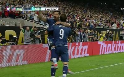 Goooolll!! Gonzalo Gerardo Higuaín mete el balón y marca para Argentina