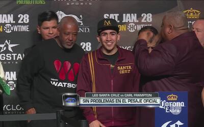 Leo Santa Cruz y Carl Frampton dieron el peso sin problemas