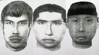 La fiscalía local elaboró estos dibujos sobre los presuntos responsables...