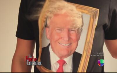 Camisas 3d de Donald Trump tienen pelo que se mueve con el viento