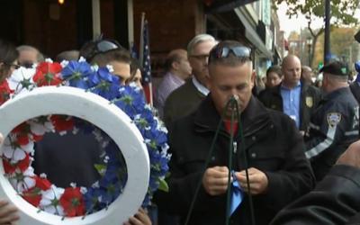 Policías rindieron tributo a su compañero asesinado