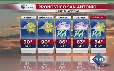 Avanzan tormentas hacia San Antonio
