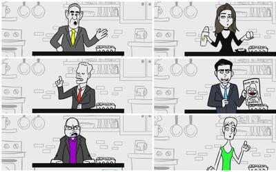 Viral: Parodia presenta debate de los candidatos a la gobernación contes...