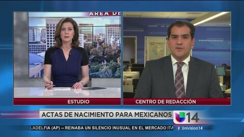 Gobierno de México ayuda a connacionales a tramitar actas de nacimiento