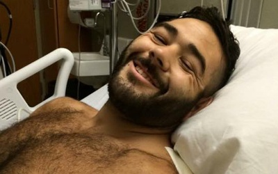 Chris Mintz en el hospital