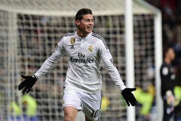 James Rodríguez se ponía el traje de goleador ante la ause...