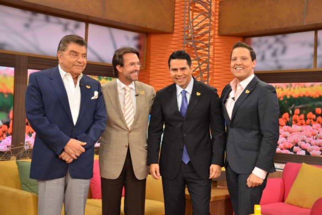 Lucero, César Conde, Fernando Landeros y Don Francisco llegaron a Despie...